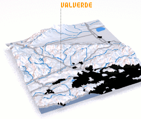 3d view of Val Verde
