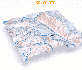 3d view of Scheelite