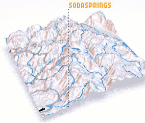 3d view of Soda Springs