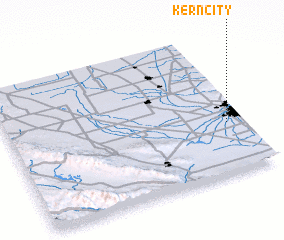 3d view of Kern City
