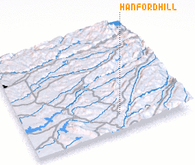 3d view of Hanford Hill