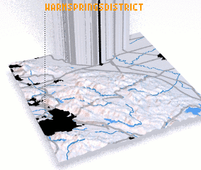 3d view of Warm Springs District