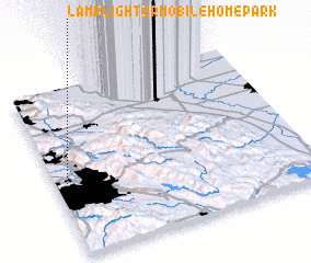 3d view of Lamplighter Mobile Home Park