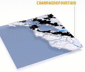 3d view of Champagne Fountain