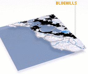 3d view of Blue Hills