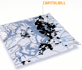 United States Map And Capitol