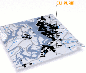 3d view of Elk Plain