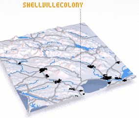 3d view of Shellville Colony