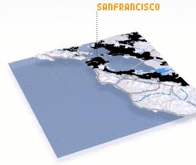 3d view of San Francisco