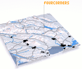 3d view of Four Corners