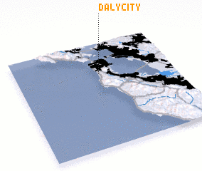 3d view of Daly City