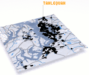 3d view of Tahlequah