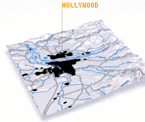 3d view of Hollywood