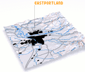 3d view of East Portland