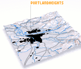 3d view of Portland Heights