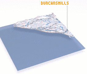 3d view of Duncans Mills