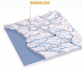 3d view of Mendocino