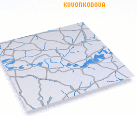 3d view of Kouonko Doua