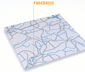 3d view of Fá de Baixo
