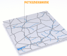 3d view of Pétègne Kahone