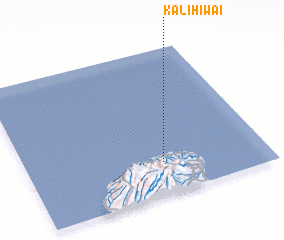 3d view of Kalihiwai