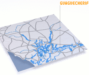 3d view of Guagué Chérif