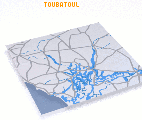 3d view of Touba Toul