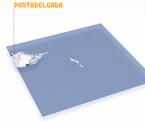 3d view of Ponta Delgada
