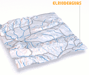 3d view of El Río de Aguas