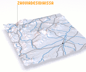 3d view of Zaouia de Sidi Aïssa