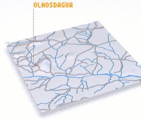 3d view of Olhos d'Água