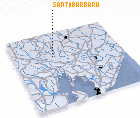 3d view of Santa Bárbara