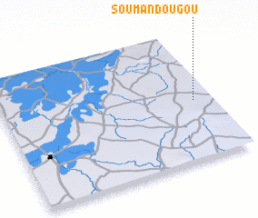 3d view of Soumandougou
