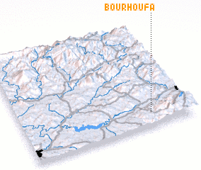 3d view of Bou Rhoufa
