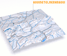 3d view of Aouinet el Merhraoui