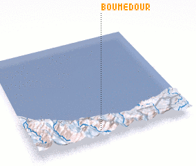 3d view of Bou Medour