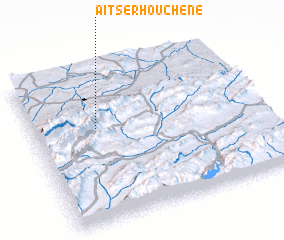 3d view of Aït Serhouchene