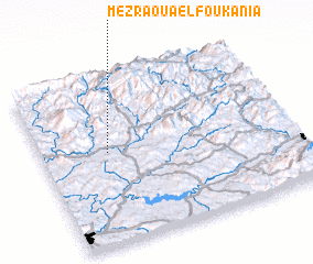 3d view of Mezraoua el Foukania