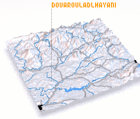 3d view of Douar Oulad Lhayani