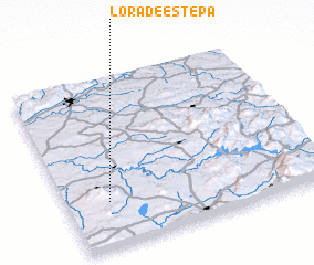 3d view of Lora de Estepa