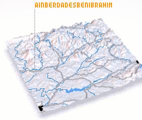 3d view of Aïn Berda des Beni Brahim
