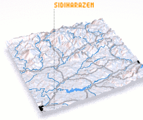 3d view of Sidi Harazem