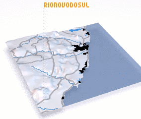 3d view of Rio Novo do Sul