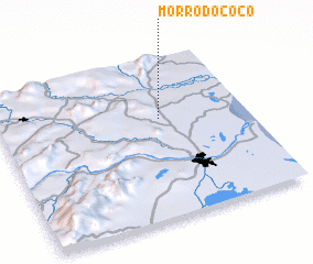 3d view of Morro do Côco