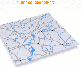 3d view of Olho-d'Água dos Pires