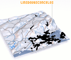 3d view of Lins do Vasconcelos