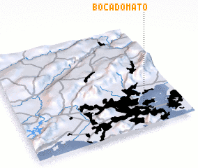 3d view of Boca do Mato