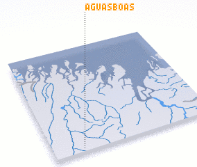 3d view of Águas Boas