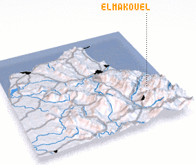 3d view of El Makouel
