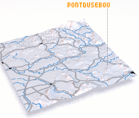 3d view of Pont du Sebou